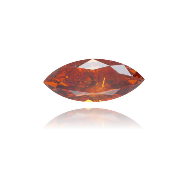 Natural Orange Diamond Marquise 0.64 ct Polished