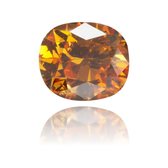 Natural Orange Diamond Oval 0.50 ct Polished
