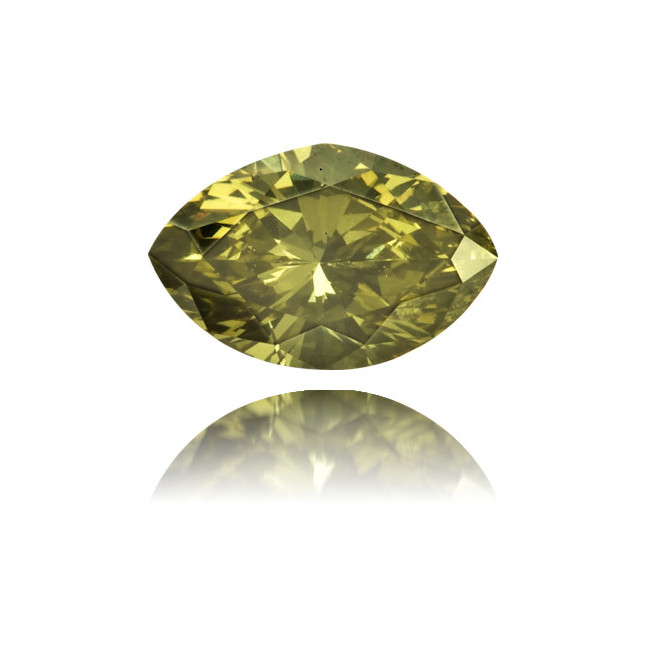 Natural Green Diamond Marquise 0.29 ct Polished