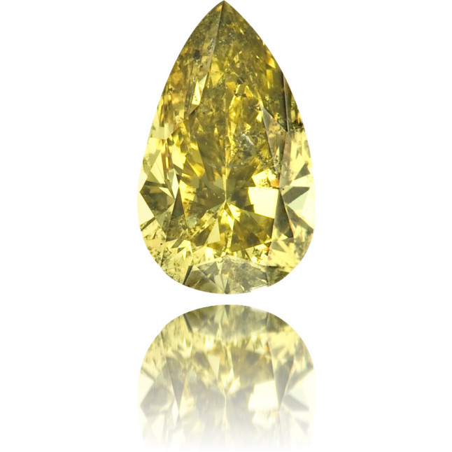 Natural Green Diamond Pear Shape 0.32 ct Polished