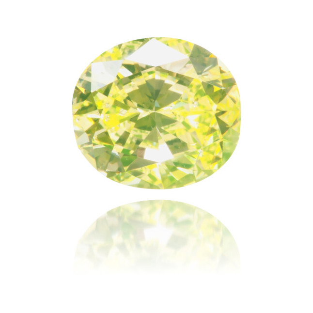 Natural Green Diamond Cushion 0.81 ct Polished