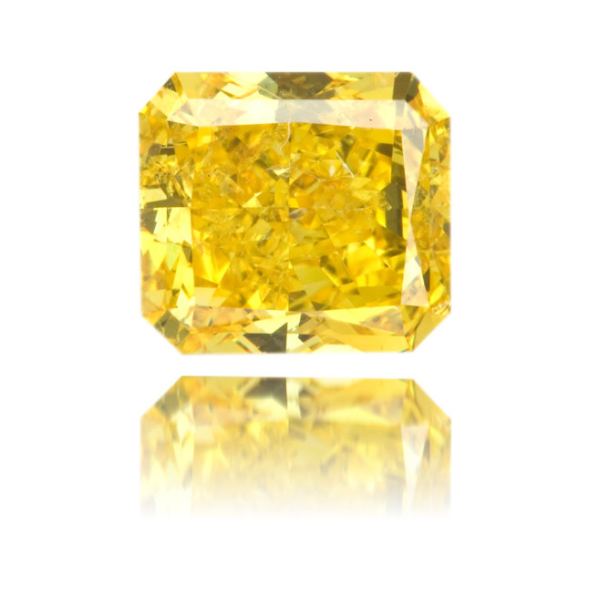 Natural Yellow Diamond Square 1.29 ct Polished