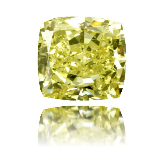 Natural Yellow Diamond Square 2.24 ct Polished