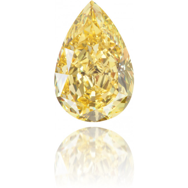 Natural Yellow Diamond Pear Shape 4.55 ct Polished