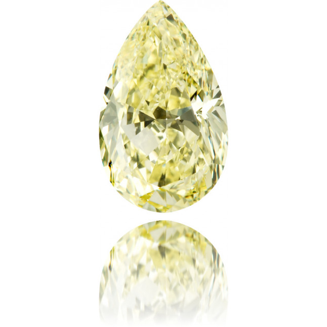 Natural Yellow Diamond Pear Shape 4.87 ct Polished