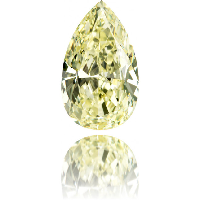 Natural Yellow Diamond Pear Shape 3.96 ct Polished