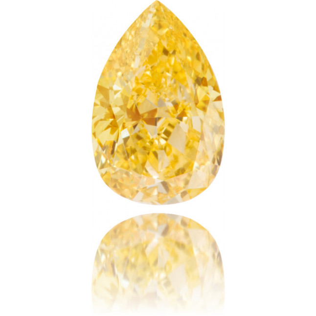 Natural Orange Diamond Pear Shape 1.31 ct Polished