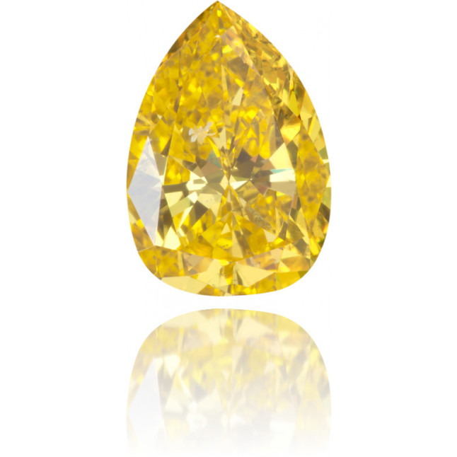 Natural Yellow Diamond Pear Shape 1.04 ct Polished