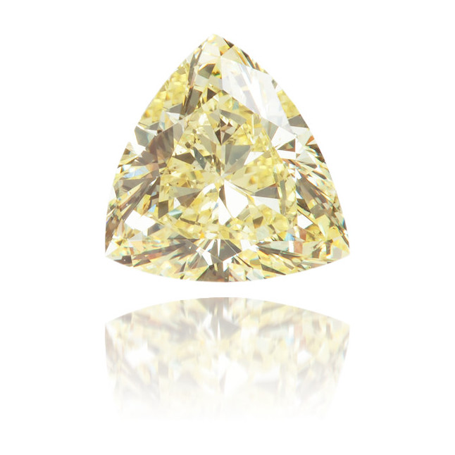 Natural Yellow Diamond Triangle 0.36 ct Polished