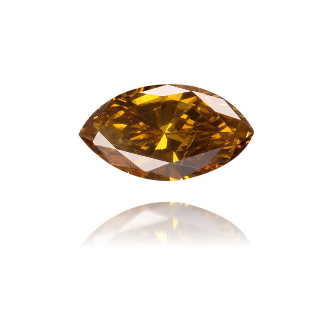 Natural Brown Diamond Marquise 0.17 ct Polished