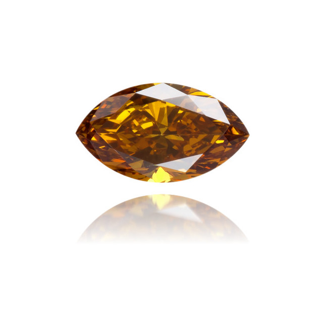 Natural Brown Diamond Marquise 0.22 ct Polished