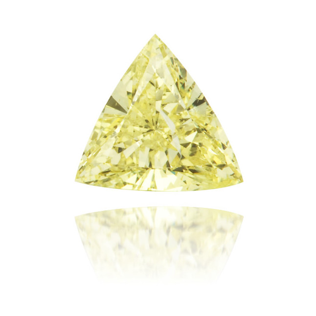 Natural Yellow Diamond Triangle 0.31 ct Polished