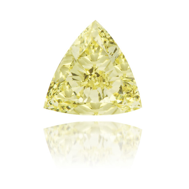 Natural Yellow Diamond Triangle 0.33 ct Polished