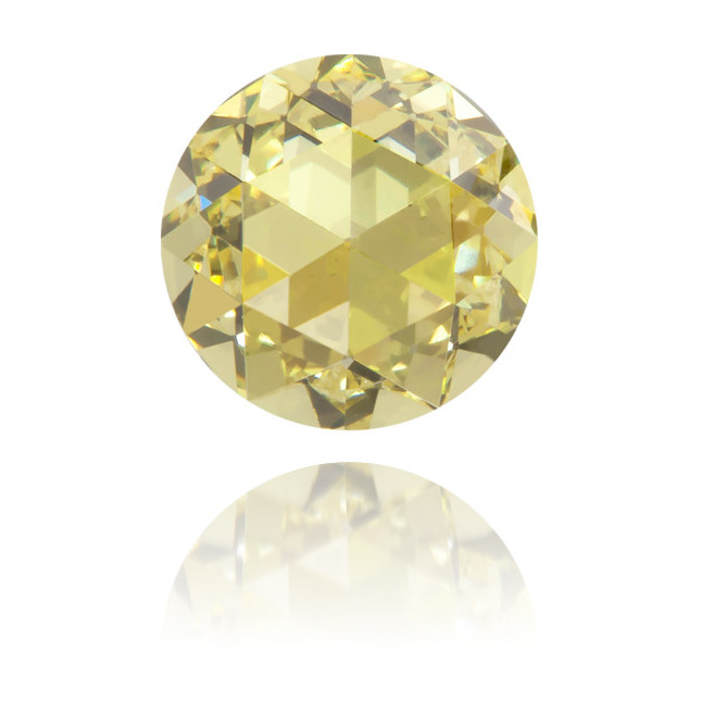 Natural Yellow Diamond Rose Cut 0.47 ct Polished