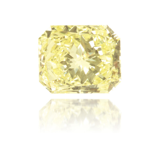 Natural Yellow Diamond Rectangle 0.44 ct Polished