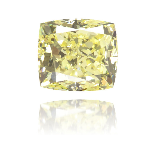 Natural Yellow Diamond Cushion 0.34 ct Polished