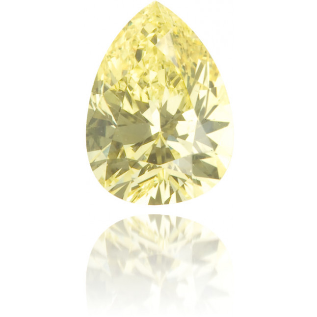 Natural Yellow Diamond Pear Shape 0.56 ct Polished