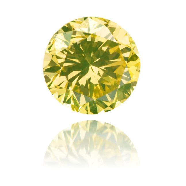 Natural Green Diamond Round 1.40 ct Polished