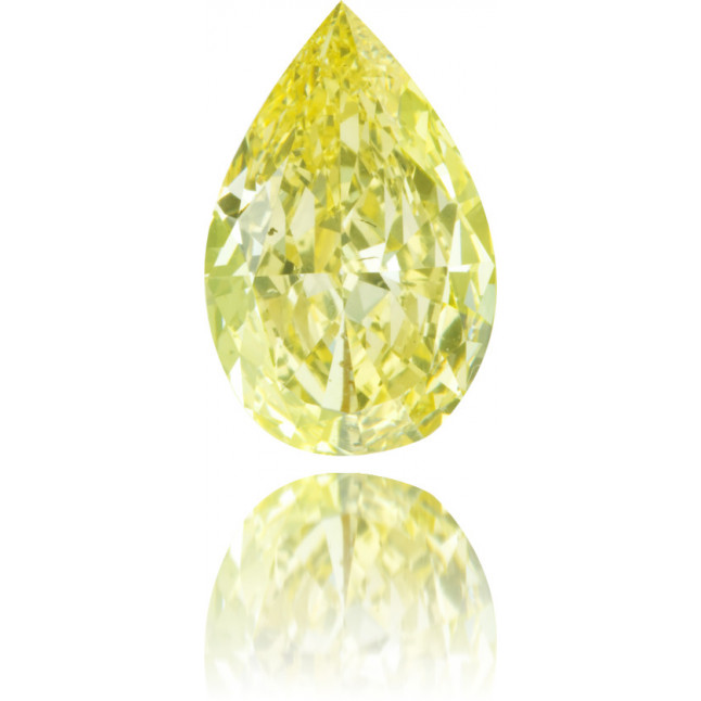 Natural Yellow Diamond Pear Shape 1.78 ct Polished