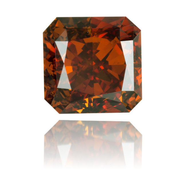 Natural Orange Diamond Square 0.73 ct Polished