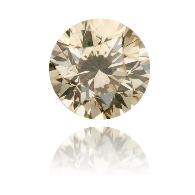 Natural Brown Diamond Round 1.58 ct Polished