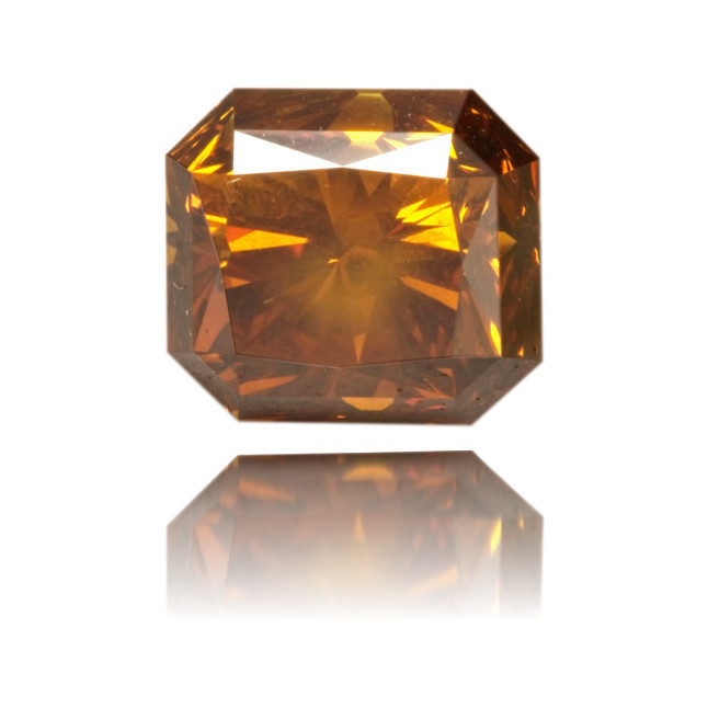 Natural Orange Diamond Rectangle 1.73 ct Polished