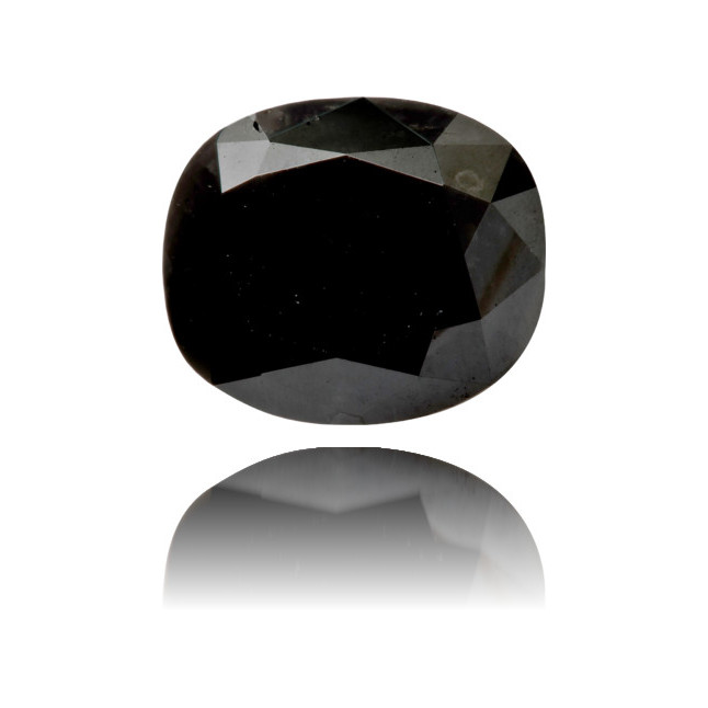 Natural Black Diamond Oval 3.34 ct Polished