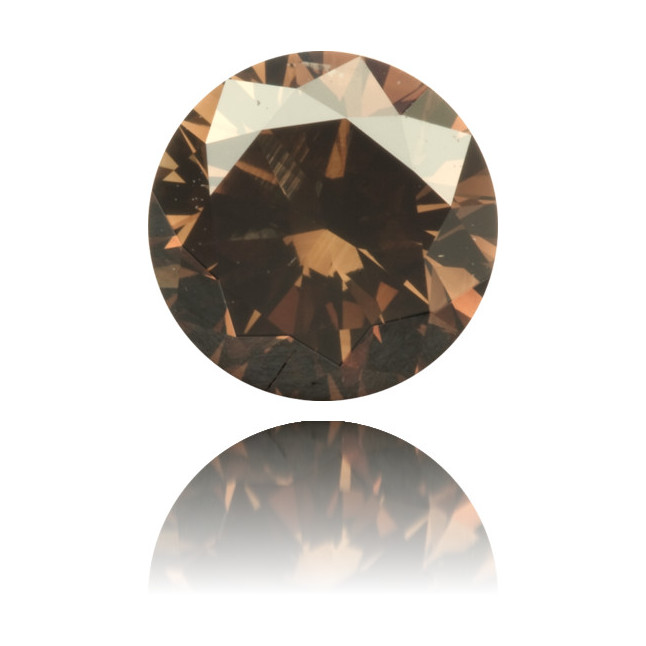Natural Brown Diamond Round 1.08 ct Polished