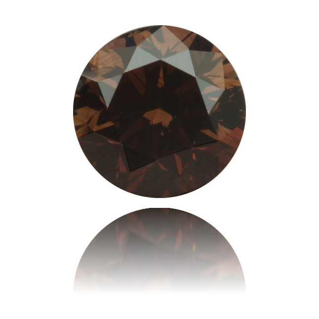 Natural Brown Diamond Round 1.01 ct Polished