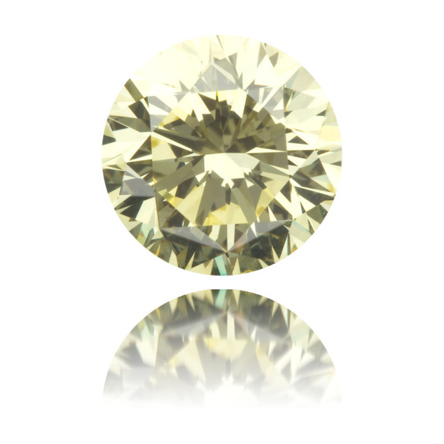Natural Yellow Diamond Round 2.01 ct Polished