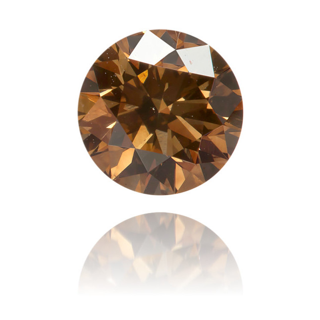 Natural Brown Diamond Round 0.60 ct Polished