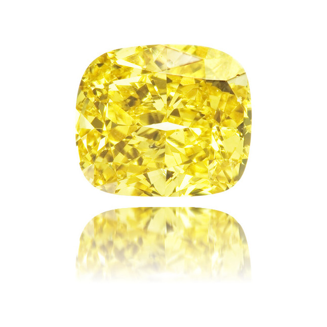 Natural Yellow Diamond Cushion 1.00 ct Polished