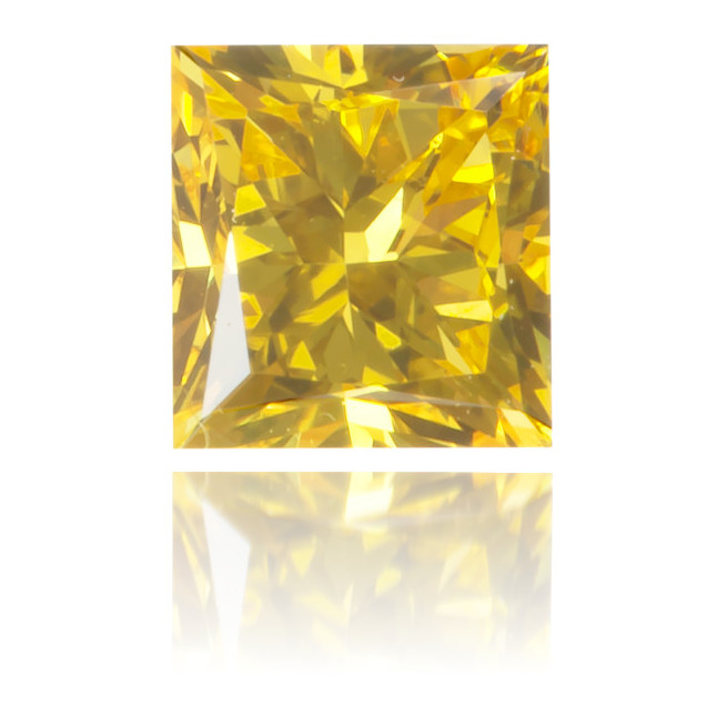 Natural Yellow Diamond Square 0.35 ct Polished