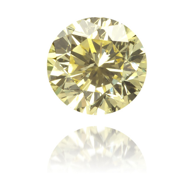 Natural Yellow Diamond Round 0.24 ct Polished