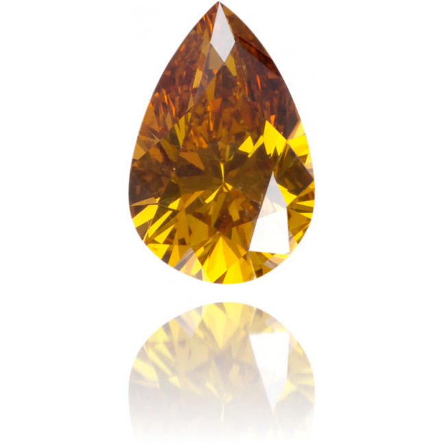 Natural Orange Diamond Pear Shape 0.30 ct Polished