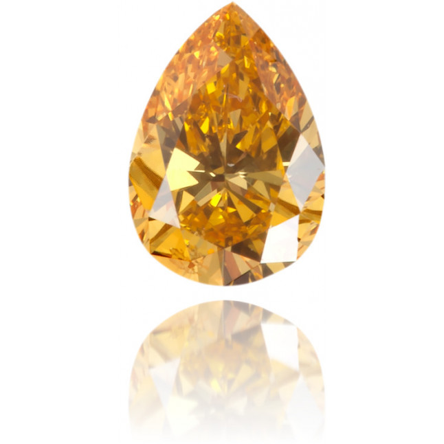 Natural Orange Diamond Pear Shape 0.18 ct Polished