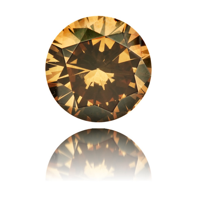Natural Brown Diamond Round 0.56 ct Polished