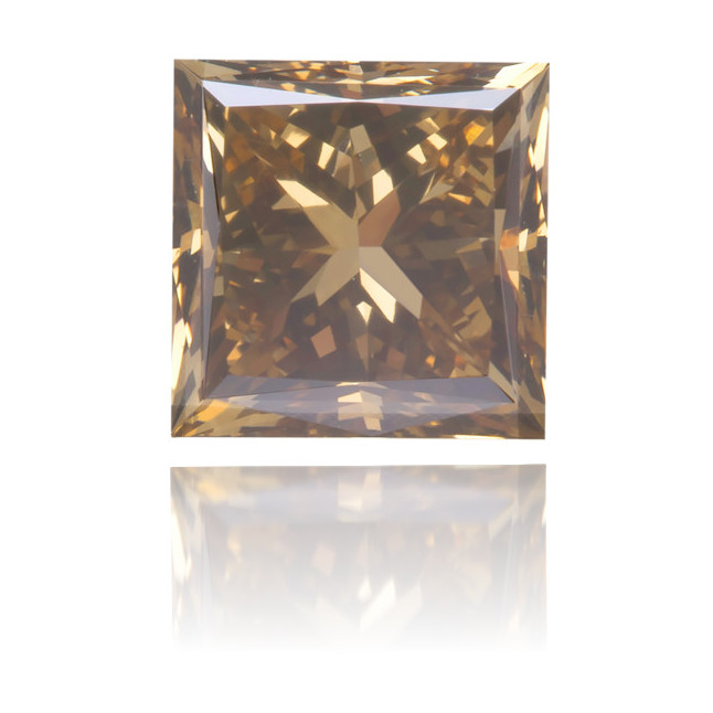 Natural Brown Diamond Square 0.81 ct Polished