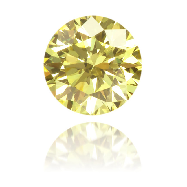 Natural Yellow Diamond Round 0.14 ct Polished