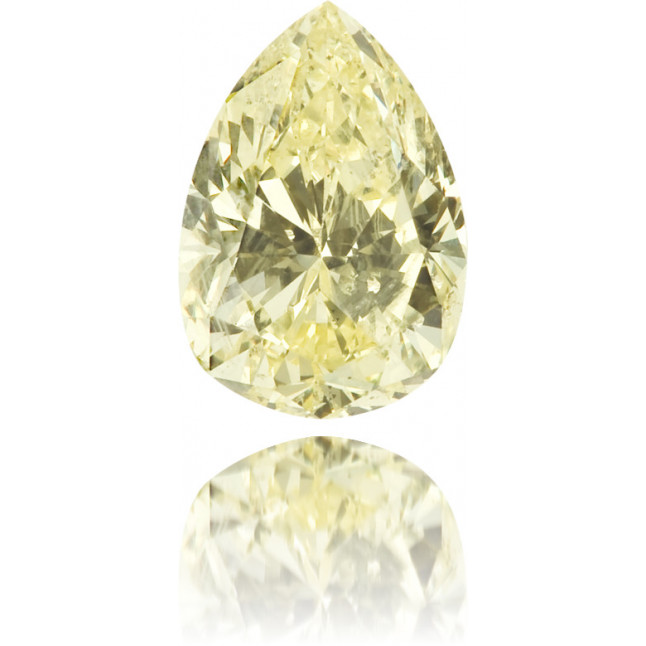 Natural Yellow Diamond Pear Shape 0.60 ct Polished