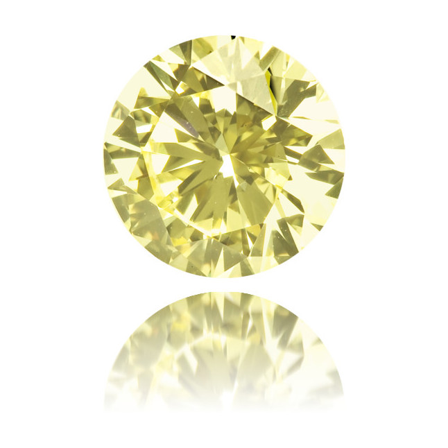 Natural Yellow Diamond Round 0.77 ct Polished