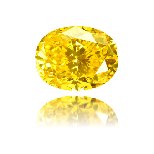 Natural Yellow Diamond Oval 1.52 ct Polished