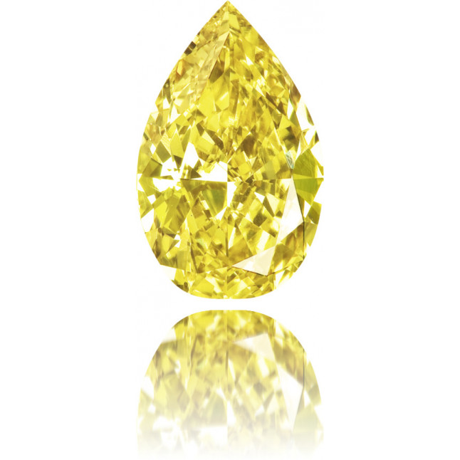 Natural Yellow Diamond Pear Shape 1.17 ct Polished