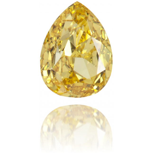 Natural Yellow Diamond Pear Shape 0.24 ct Polished