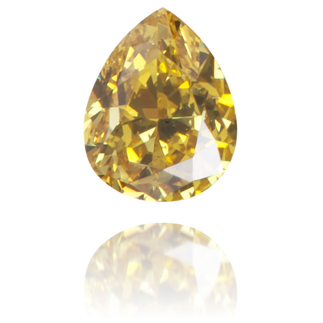 Natural Yellow Diamond Pear Shape 0.17 ct Polished