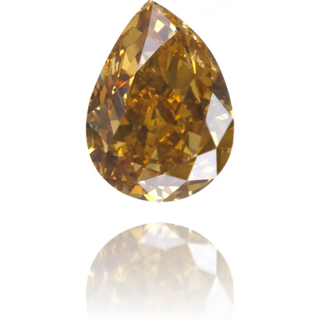 Natural Orange Diamond Pear Shape 0.19 ct Polished