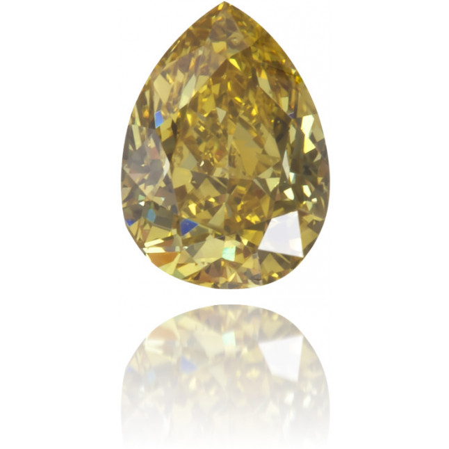 Natural Green Diamond Pear Shape 0.20 ct Polished