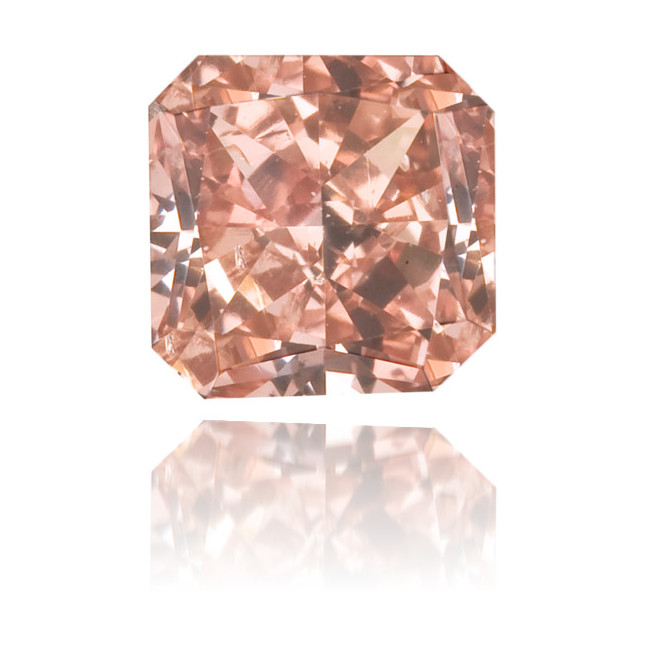 Natural Pink Diamond Square 0.34 ct Polished