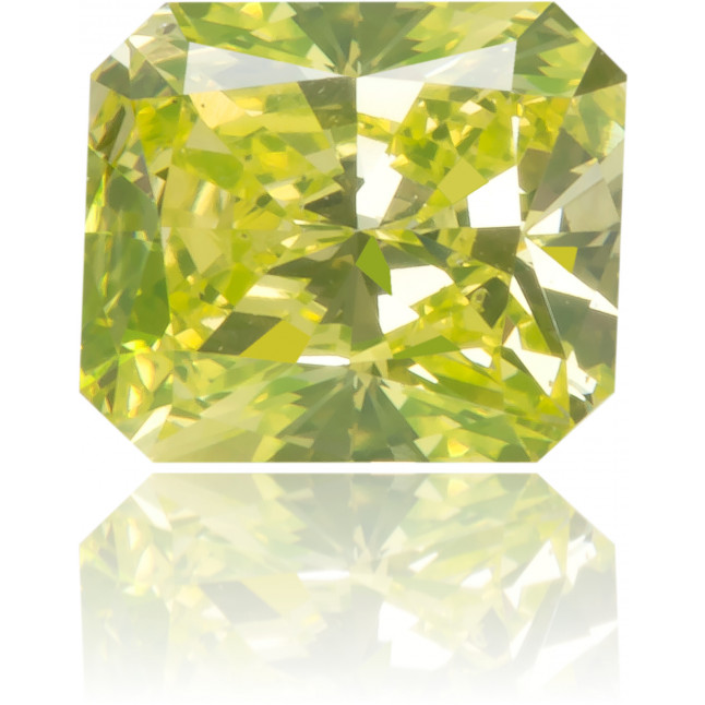 Natural Green Diamond Rectangle 0.58 ct Polished