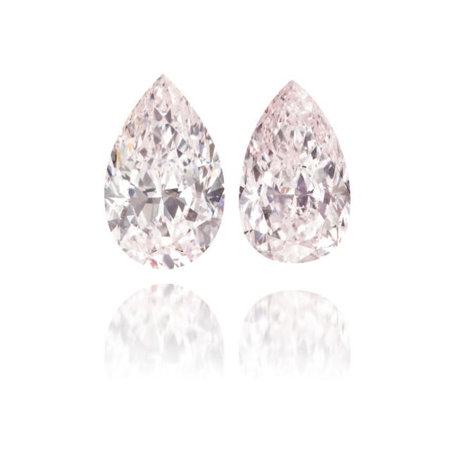 Natural Pink Diamond Pear Shape 1.85 ct Set